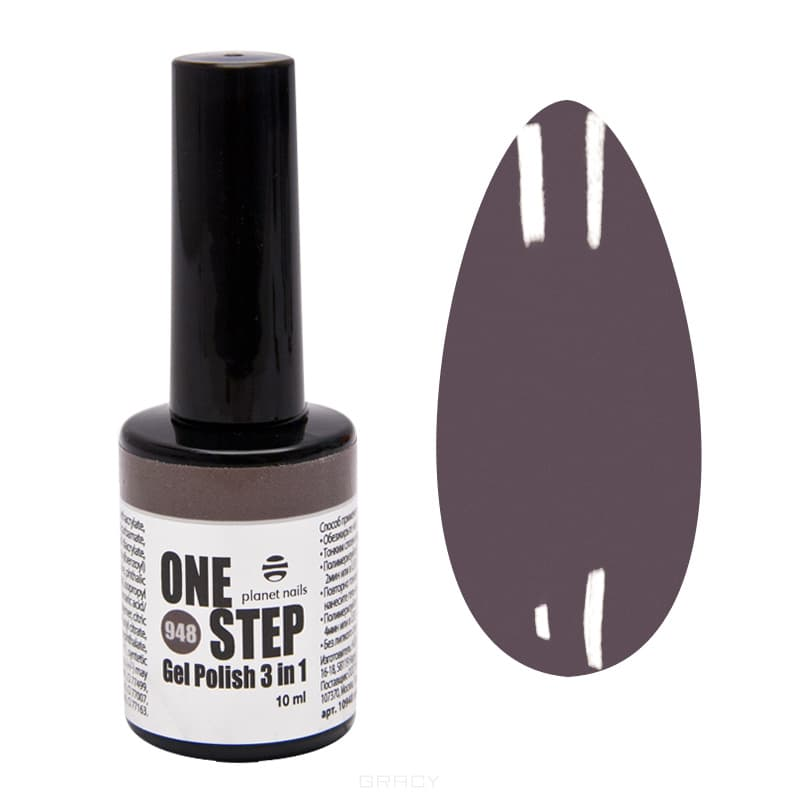 Planet Nails, Гель-лак One Step Планет Нейлс, 10 мл (75 оттенков) кухонная мойка mixline ml gm18 49х64 графит 342 4620031445661