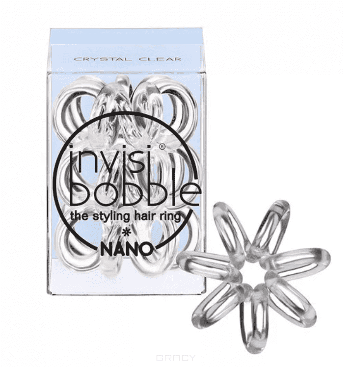Фото - Резинка для волос NANO Crystal Clear прозрачный в упаковке с подвесом, 3 шт hae soo kwak nano and microencapsulation for foods