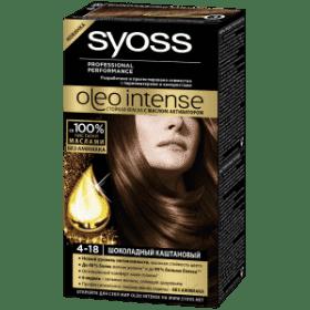 Syoss, Краска для волос Oleo Intense, 115 мл (26 оттенков) 4-18 Шоколадный каштановыйGreenism - эко-серия для ухода<br><br>