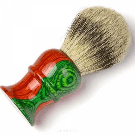 Кисточка для бритья из барсучьего волоса с деревянным основанием (2 цвета) кофемолка n n с деревянным основанием