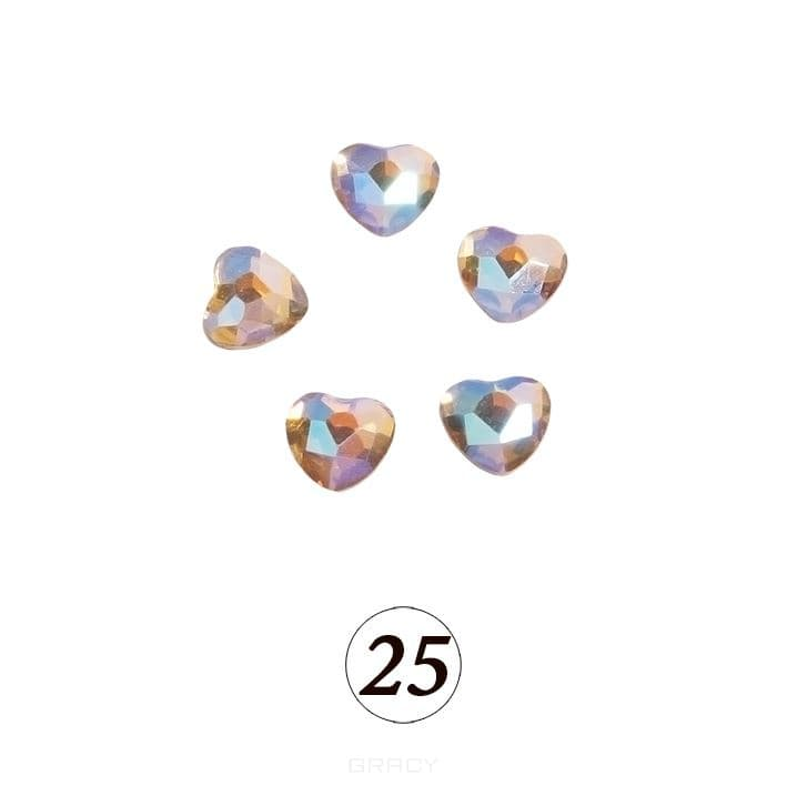 Planet Nails, Цветные фигурные стразы в ассортименте (76 видов), 5 шт/уп Планет Нейлс №25 eps 103 de 25