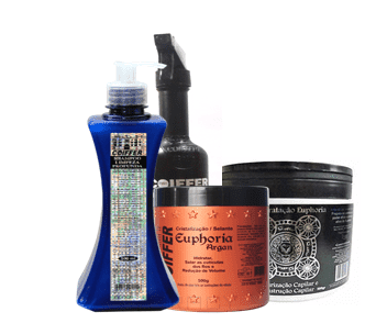 Coiffer, Маска реконструктор Euphoria Hidratacao Шаг 2, 500 гКератиновое выпрямление и восстановление волос<br><br>