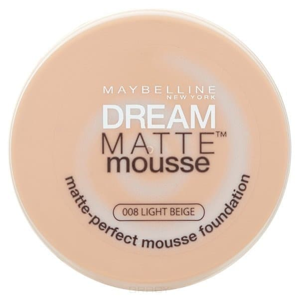 Maybelline, Тональный крем Dream Matte Mousse,18 мл (6 оттенков) 008 Светло-бежевыйДля лица<br><br>