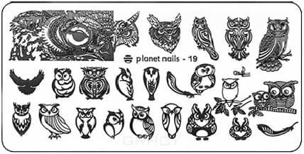 Planet Nails, Пластина для Stamping Nail Art (25 видов) - 19