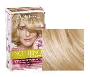 LOreal, Краска для волос Excellence Creme (32 оттенка), 270 мл 9 Очень светло-русыйОкрашивание<br><br>
