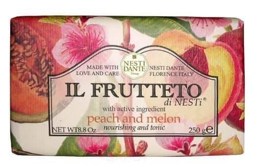 Мыло Персик и дыня IL Frutteto, 250 грВеликолепное растительное мыло премиум-класса Nesti Dante &amp;amp;quot;Il Frutteto. Персик и дыня&amp;amp;quot;, созданное из выращенных на солнце драгоценных плодов флорентийского сада. Мыловары &amp;amp;quot;Nesti Dante&amp;amp;quot; воплотили в новой линии чудесные ароматы провинции Тоскана, сохранив высокие стандарты совершенства, которыми славится натуральное растительное мыло. Два специально собранных букета, выражающие их страсть к мыловарению. Они бережно отбирали самые романтичные и эмоциональные ароматы региона Тоскана, вложив их в самое сердце новой линии мыла.&#13;<br>&#13;<br>Изысканная флорентийская бумага, в которую завернуто мыло, расписана акварелью, на каждом кусочке мыла выгравирована надпись &amp;amp;quot;With Love And Care (С любовю и заботой)&amp;amp;quot;.<br>