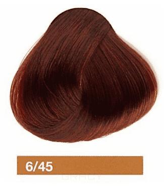 Купить Lakme, Перманентная крем-краска Collage, 60 мл (99 оттенков) 6/45 Темный блондин медно-махагоновый