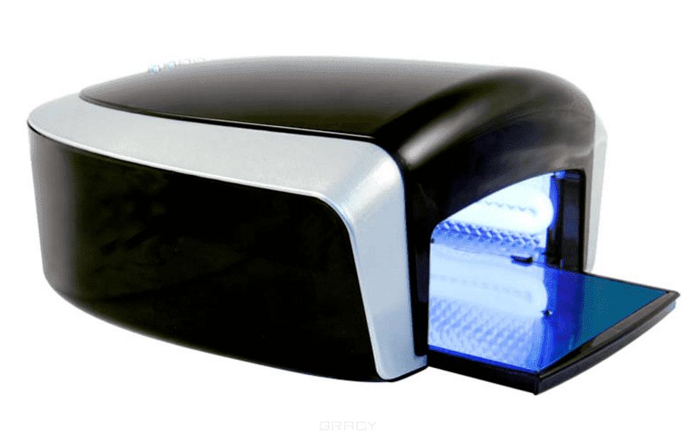 УФ лампа 36W Gravity SensorУльтрафиолетовая лампа Gravity Sensor оснащена встроенным в выдвижную панель датчиком сенсора. Имеет таймер (30 - 240 секунд), который дает мастеру возможность полностью сконцентрироваться на работе с клиентом, проделать ее с точностью до секунды, настроив его именно на тот промежуток времени, который необходим для выполнения всей процедуры. К тому же это помогает правильно рассчитывать время на каждого клиента, а также сэкономить на замене лампочек в устройстве. Мощность лампы 36 Вт (4 УФ лампы по 9 Ватт). Со всех сторон лампа оснащена зеркальными отражателями, что ускоряет время полимеризации геля. Данная модель имеет выдвижное дно, что упрощает процедуру замены лампочек в лампе и внутреннего очищения лампы.&#13;<br>Ультрафиолетовая лампа Gravity Sensor проста в эксплуатации. Имеет стильный дизайн.<br>