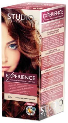 Studio, Краска для волос experience (8 оттенков), 40/60/15 мл 5.5 Соблазнительный красный