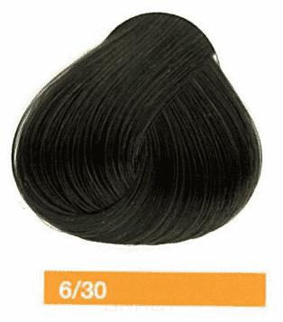 Lakme, Перманентная крем-краска Collage, 60 мл (99 оттенков) 6/30 Темный блондин золотистый фото