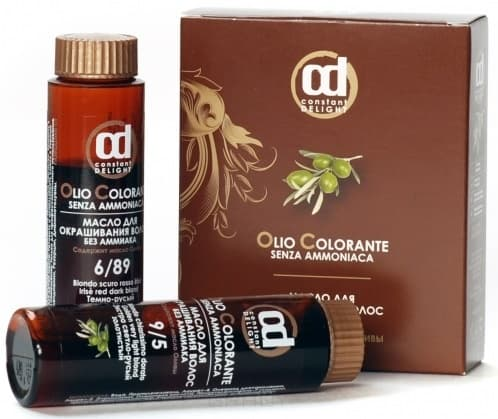 Constant Delight, Масло для окрашивания волос Olio Colorante Констант Делайт (палитра 56 цветов), 50 мл 9.004 экстра светло-русый натуральный тропический