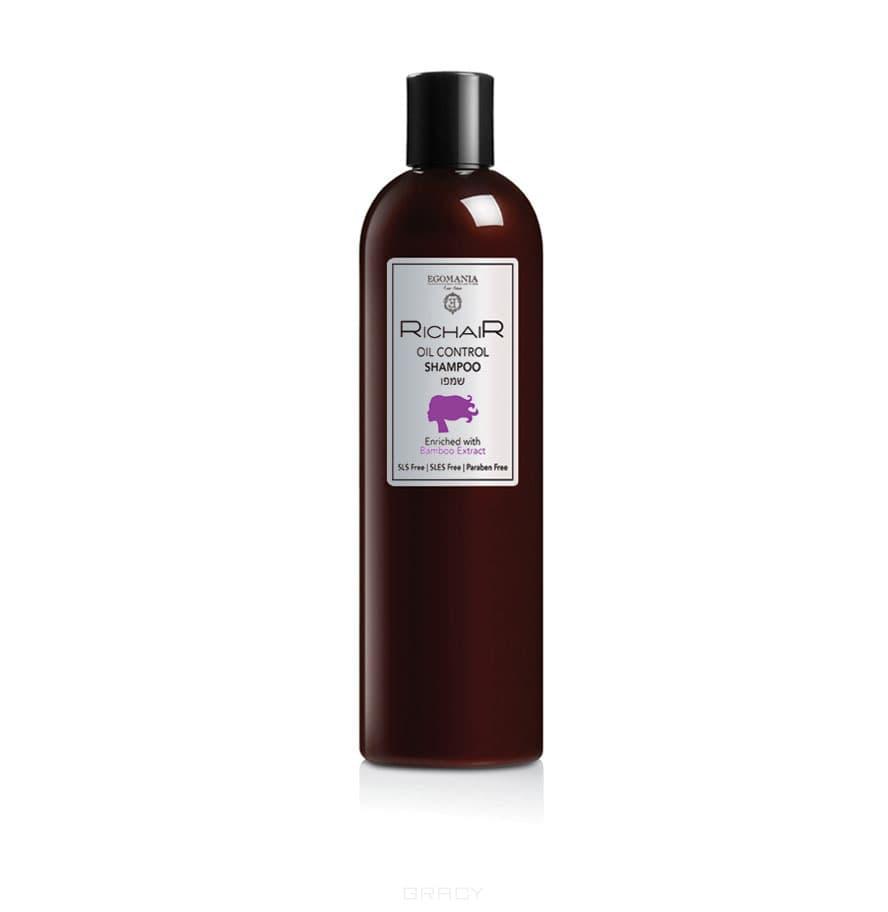 Купить Egomania, Шампунь для контроля жирности кожи головы с экстрактом бамбука Richair, 400 мл
