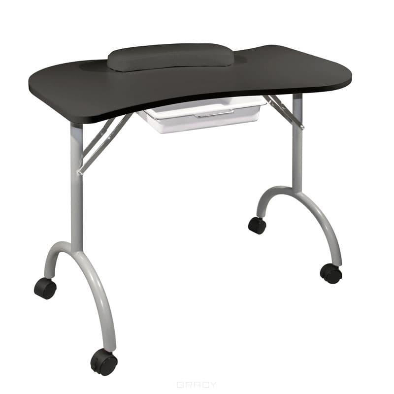 Стол для маникюра складной Wave черный стол складной larsen camp ft 015