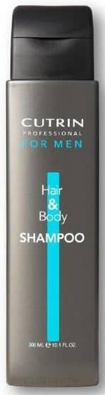 Шампунь для мужчин для волос и тела Hair&amp;amp;Body Shampoo, 300 млШампунь для волос и тела Cutrin for MEN Hair&amp;amp;amp;Body Shampoo предназначен специально для ухода за волосами и телом мужчин, а также для мягкого очищения волос и кожи головы. Подходит средство для всех типов волос. &#13;<br>В результате применения шампуня для волос и тела Cutrin for MEN Hair&amp;amp;amp;Body Shampoo волосы и кожа головы становятся невероятно сильными, крепкими, здоровыми и красивыми, а также приобретают шелковистость и объем. Комплекс витаминов и минералов питает и увлажняет структуру волос. ос и всех типов кожи.<br>