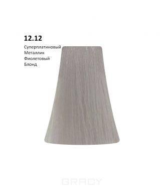Купить BB One, Перманентная крем-краска Picasso (153 оттенка) 12.12Extra Super Platinium Metallic Violet Blond/Суперплатиновый Металлик Фиолетовый Блонд