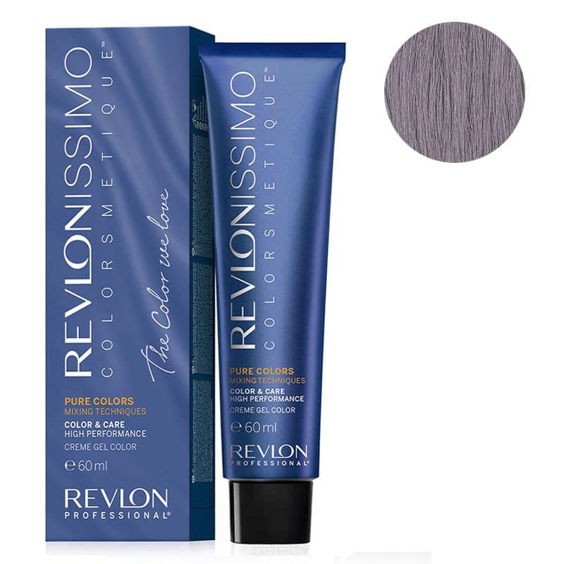 Купить Revlon, Краска для волос Revlonissimo Colorcosmetique Pure Colors, 60 мл (6 оттенков) 0.12 Перламутровый пепел