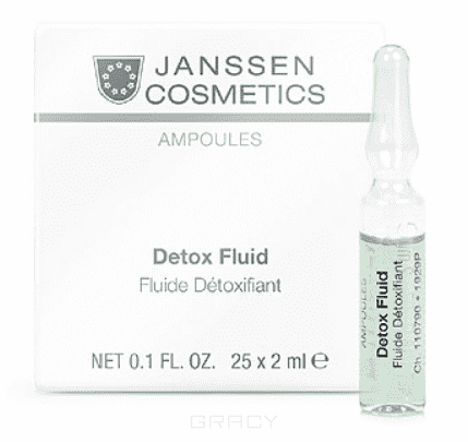 Janssen, Детокс-сыворотка в ампулах Detox Fluid, 2 мл ампулы janssen cosmetics detox fluid 7 2 мл