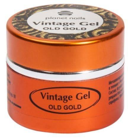 цена на Planet Nails, Гель-паста для чеканки Vintage Gel Планет Нейлс (6 оттенков), 5 гр old gold