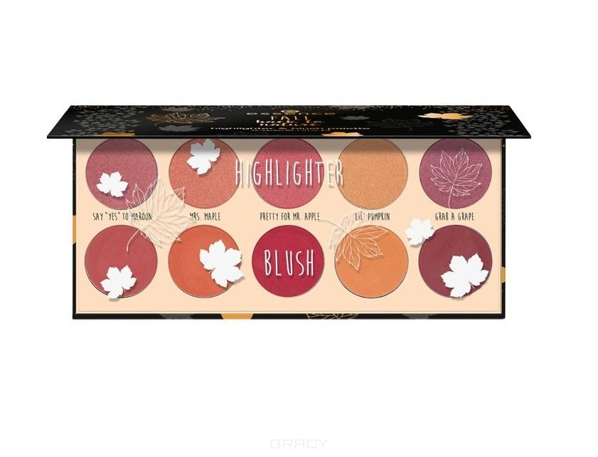 Essence, Палетка для макияжа Fall Back To Nature Highlighter & Blush Palette, 01 You're So BeautiFALL urban decay sin afterglow blush highlighter палетка румян хайлайтеров sin afterglow blush highlighter палетка румян хайлайтеров