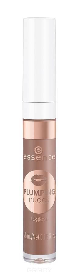 Essence, Блеск для губ Plumping Nudes Lipgloss, 4.5 мл (7 тонов) №02, коричневый нюд
