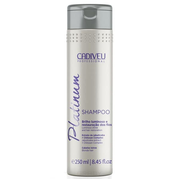 Cadiveu Professional, Platinum Шампунь для блондинок от желтизны Кадевью Home Shampoo, 250 мл