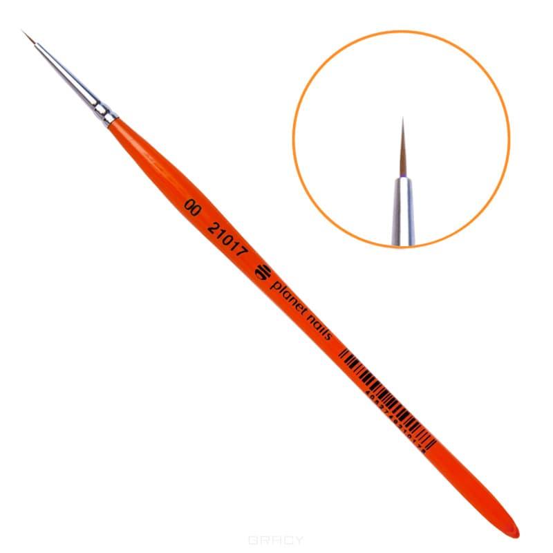 Planet Nails, Кисть для дизайна круглая из волоса колонка № 00 малевичъ кисть из волоса колонка simple 4