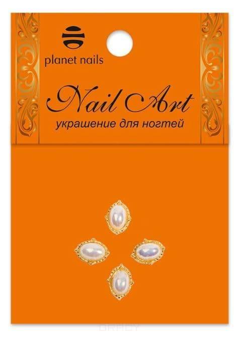 Planet Nails, Золотые украшения в ассортименте 4 шт/уп Планет Нейлс