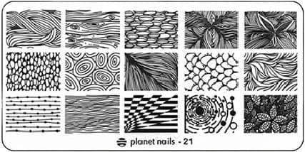Planet Nails, Пластина для Stamping Nail Art (25 видов) - 21