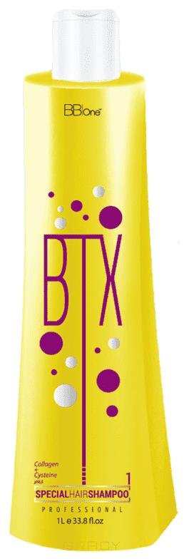 BB One, BTX Глубоко очищающий шампунь Special Hair pH=6,5 Шаг 1, 500 мл orofluido amazonia rinse oil шаг 2 очищающий шампунь 500 мл