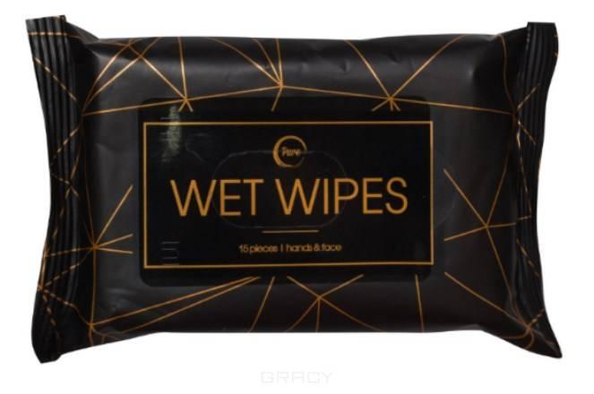Pure, Салфетки влажные очищающие, 15 шт maneki салфетки влажные kaiteki очищающие с антибактериальным эффектом в индивидуальной упаковке 15 шт