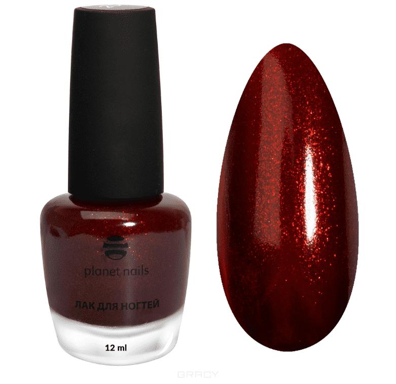 Planet Nails, Лак для ногтей красный с шиммером, 12 мл (6 оттенков) Лак для ногтей красный с шиммером, 12 мл (6 оттенков)