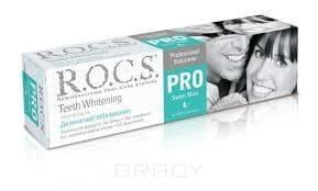 Зубная паста Деликатное отбеливание Pro Sweet Mint, 135 гПредназначена для осветления зубов и придания им блеска, поддержания белизны улыбки, укрепления эмали и десен&#13;<br>&#13;<br>  &#13;<br>&#13;<br>  Для безупречной красоты вашей улыбки и чистоты зубов Безопасная формула: не содержит фтор, лаурилсульфат натрия, парабены и красители&#13;<br>&#13;<br>  &#13;<br>    &#13;<br>  &#13;<br>&#13;<br>  Подходит для постоянного ежедневного использования&#13;<br>&#13;<br>  &#13;<br>    &#13;<br>  &#13;<br>&#13;<br>  Для усиления отбеливающего эффекта рекомендуется использовать в сочетании с зубной пастой R.O.C.S. PRO Кислородное отбеливание&#13;<br>&#13;<br>  &#13;<br>    &#13;<br>  &#13;<br>&#13;<br>  Sweet Mint для тех, кто отдает предпочтение приятным вкусам с выраженными нотами сладкой мяты&#13;<br>&#13;<br>  &#13;<br>    &#13;<br>  &#13;<br>&#13;<br>  Компилирует в себе самые новые технологии в области Oral Care<br>