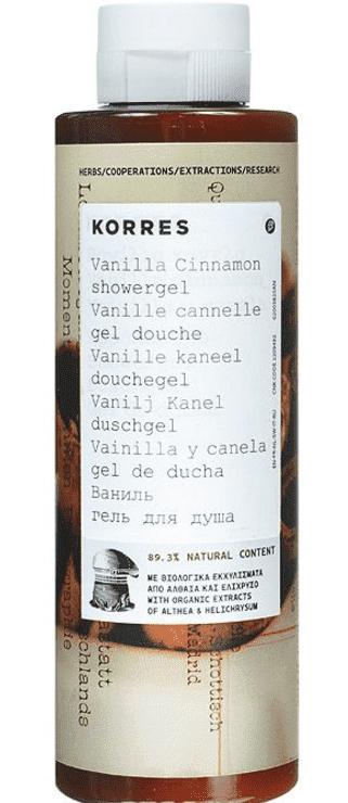 Korres, Гель для душа Ваниль и корица, 250 мл l occitane гель для душа cedrat 250 мл