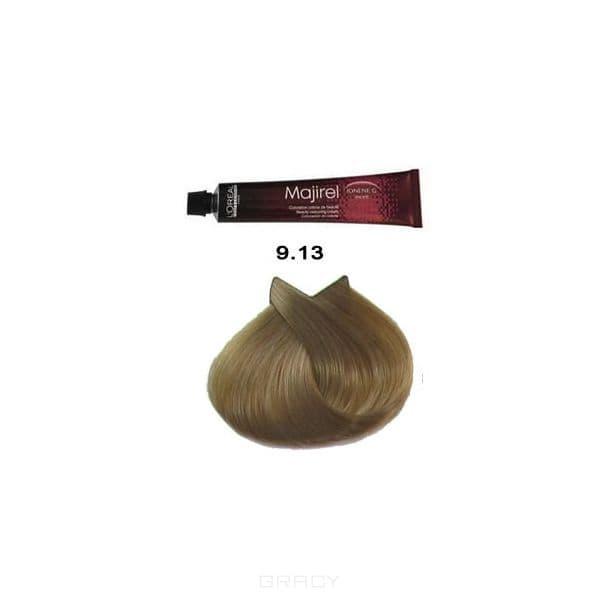 L'Oreal Professionnel, Крем-краска для волос Мажирель Majirel, 50 мл (88 оттенков) 9.13 очень светлый блондин пепельно-золотистый l oreal professionnel крем краска мажирель majirel 50 мл 88 оттенков 8 13 светлый блондин пепельно золотистый