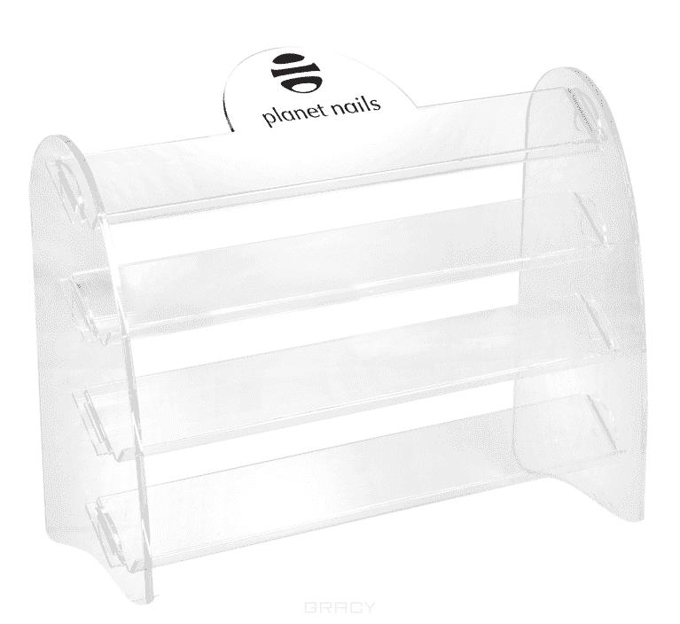 Купить Planet Nails, Подставка для лаков с логотипом 4 яруса 28х20 см
