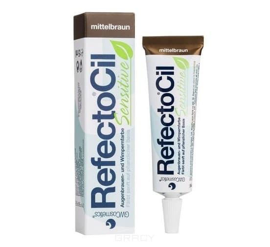 RefectoCil, Краска для бровей и ресниц SENSITIVE, 15 мл (4 цвета), 15 мл КоричневаяОкрашивание бровей и ресниц<br><br>