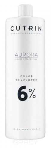 Cutrin, Окислитель для краски Aurora Color Developer (SCC-Reflection) (1,5, 3, 4,5, 6, 9, 12%) Окислитель Aurora Color Developer 6% cutrin кремоксид 6% scc reflection 1000 мл