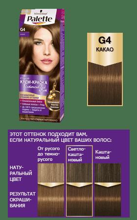 Schwarzkopf Professional, Краска для волос Palette Icc, 50 мл (40 оттенков) G4 Какао schwarzkopf professional краска для волос palette icc 50 мл 40 оттенков c9 пепельный блондин