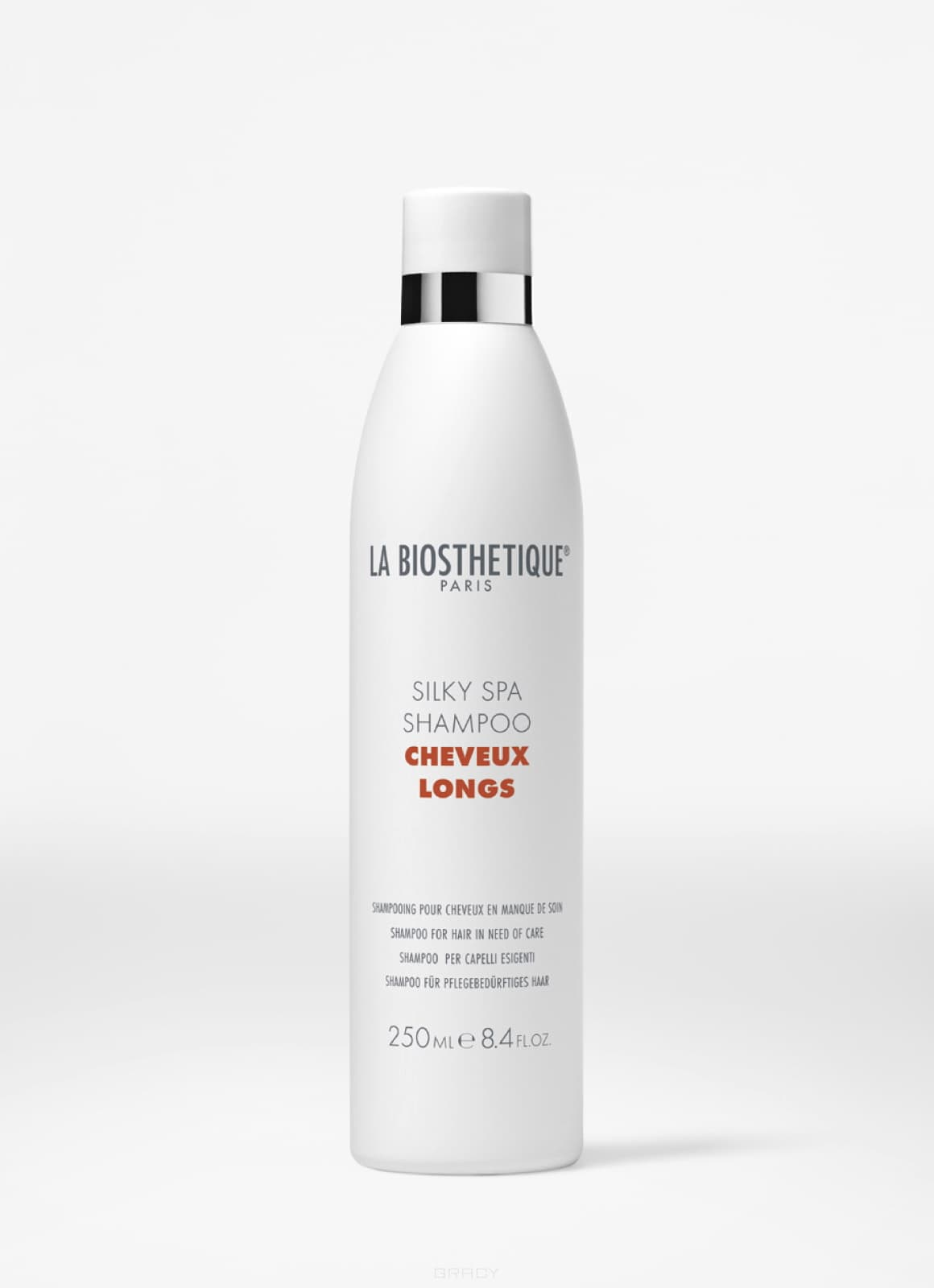 La Biosthetique, SPA-шампунь для придания шелковистости длинным волосам Silky Spa Shampoo, 450 мл la biosthetique volumising spa shampoo spa шампунь для тонких длинных волос 1000 мл