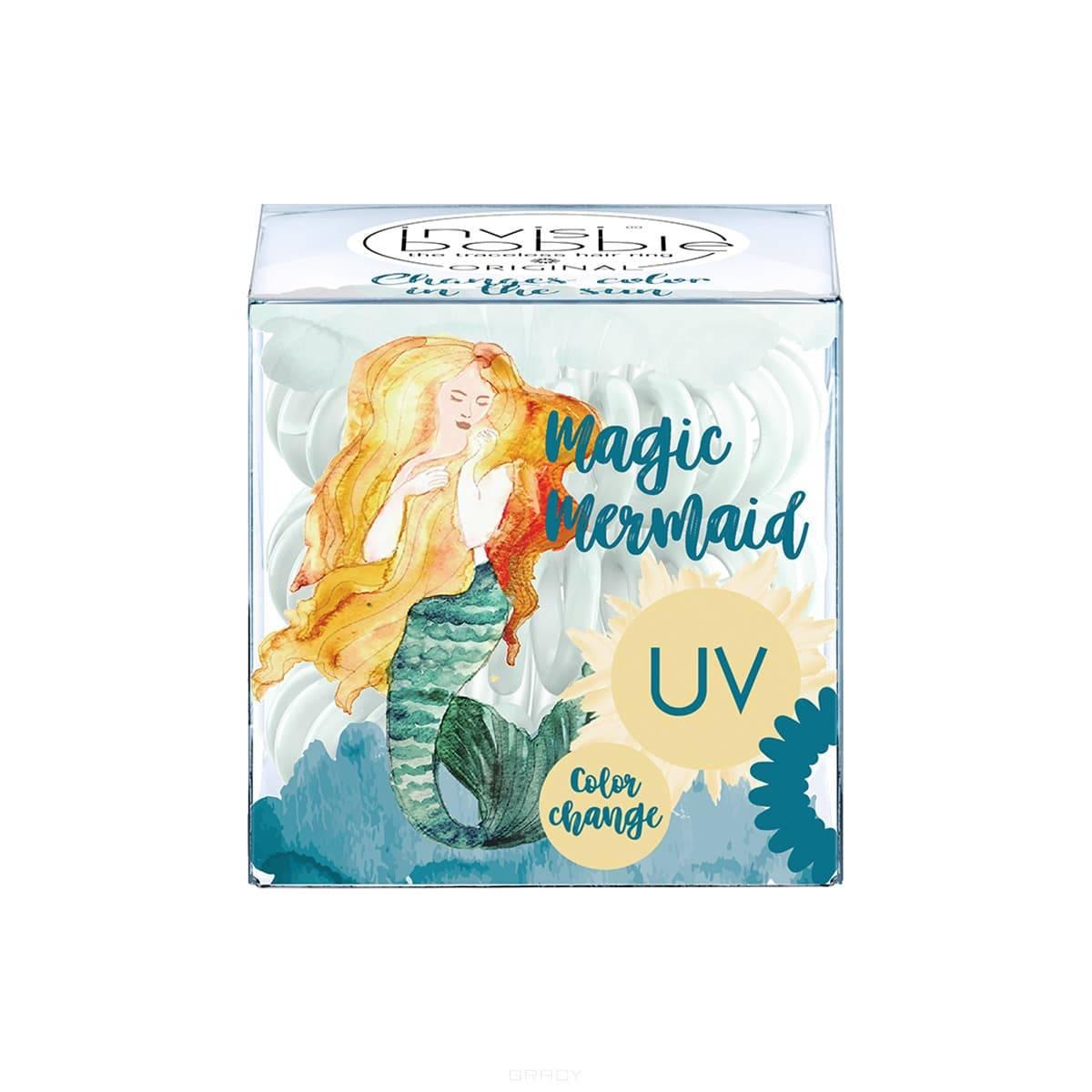 Invisibobble, Набор резинок для волос Magic Mermaid Ocean Tango, приглушенно-голубой, 3 шт/уп резинка для волос invisibobble magic mermaid ocean tango 3 штуки 3139
