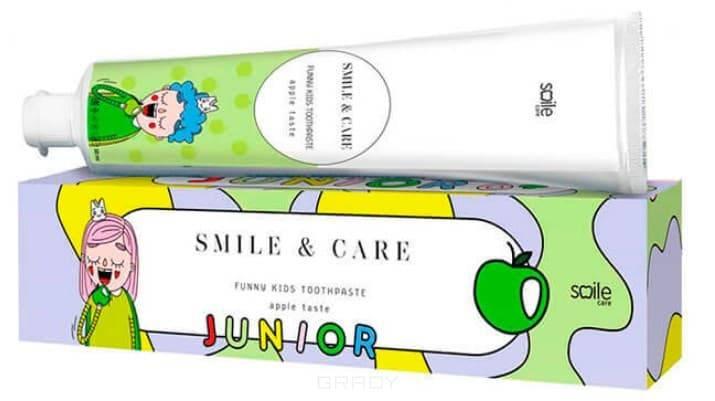 Smile Care, Детская зубная паста со вкусом яблока Funny Kids Toothpaste Apple, 30 мл pearl drops зубная паста молодая улыбка каждый день youthful smile 50 мл