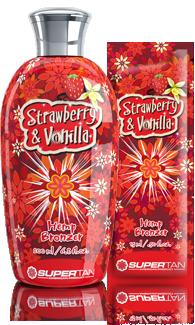 Supertan, Бронзатор с экстрактом из конопли Strawberry & Vanilla, 15 мл strawberry print pencil case