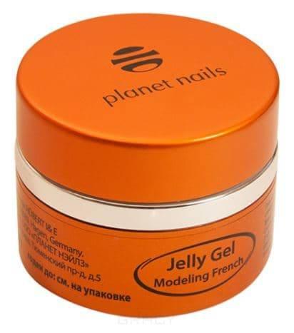 Planet Nails, Гель-желе Modeling French Jelly Gel высокой степени вязкости, ярко-белый Планет Нейлс, 15 гр planet nails гель желе modeling clear jelly gel конструирующий прозрачный планет нейлс 15 гр