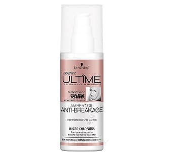 Schwarzkopf Professional, Масло-сыворотка дл кстремально поврежденных и сухих волос Ultime Amber+Oil Anti-Breakage, 100 млEssence Ultime - уход за волосами<br><br>