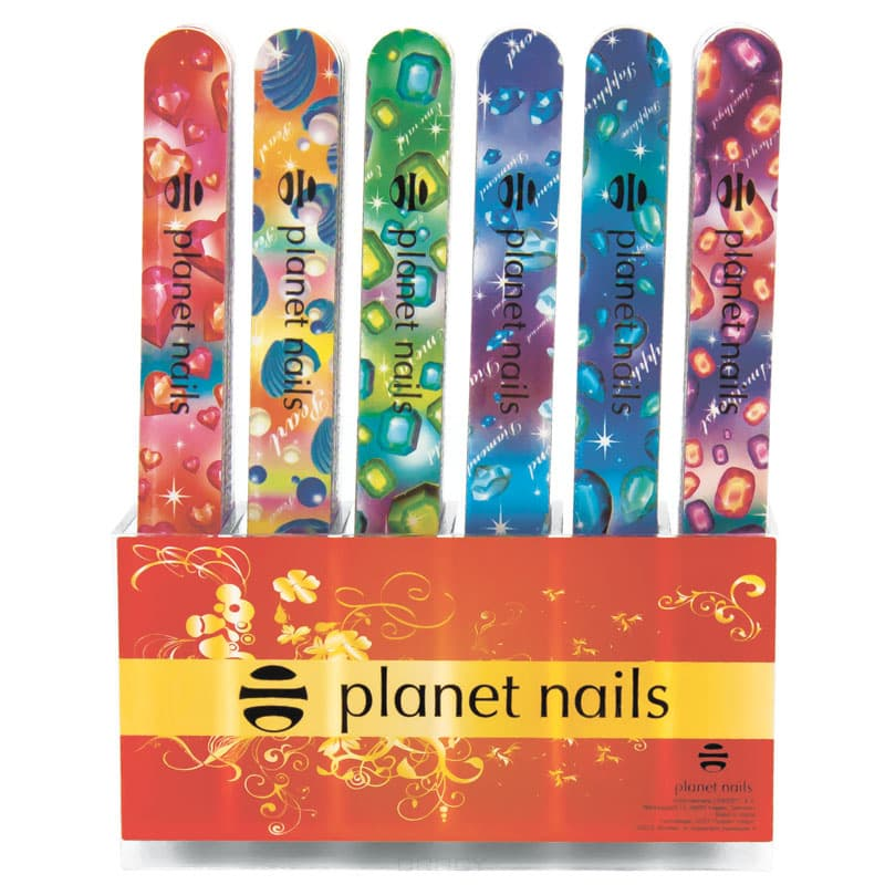 Planet Nails, Набор пилок стандартные - кристалы 240/180, 72 штПилки для натуральных ногтей<br><br>