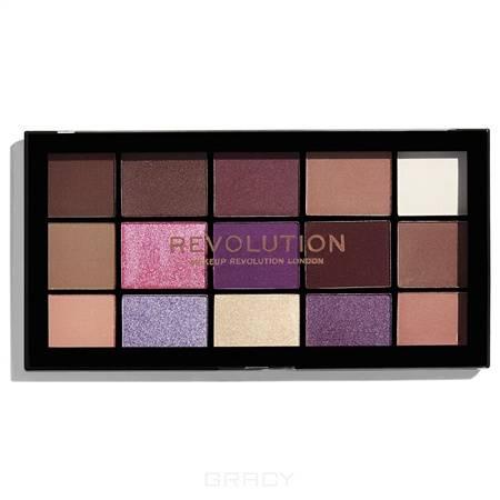 Купить MakeUp Revolution, Палетка теней для век Re-loaded Palette, 15 оттенков (6 вариантов) Visionary