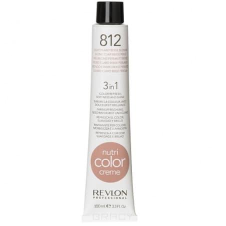Revlon, Крем-краска для волос 3 в 1 Nutri Color Creme, (52 оттенка) 812 Светло-русый бежевый жемчуг краска для волос колор кроссворд 5 букв