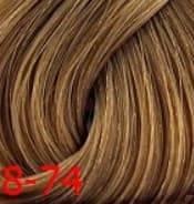 Купить Estel, Краска для волос Princess Essex Color Cream, 60 мл (135 оттенков) 8/74 Светло-русый коричнево-медный /карамель
