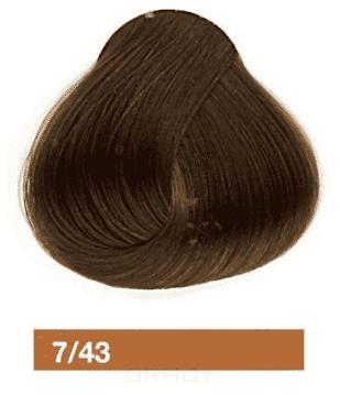 Lakme, Перманентная крем-краска Collage, 60 мл (99 оттенков) 7/43 Средний блондин медно-золотистый недорого