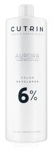 Cutrin, Окислитель для краски Aurora Color Developer (SCC-Reflection) (1,5, 3, 4,5, 6, 9, 12%) Окислитель Aurora Color Developer 6% cutrin кутрин краска для волос aurora аврора scc reflection палитра 97 оттенков 60 мл 0 06 платиновый жемчуг